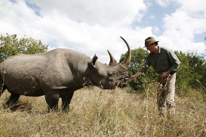 De safari con rinocerontes