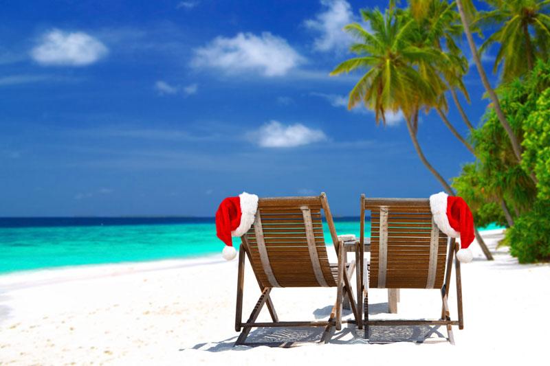 Playas paradisíacas en Navidad
