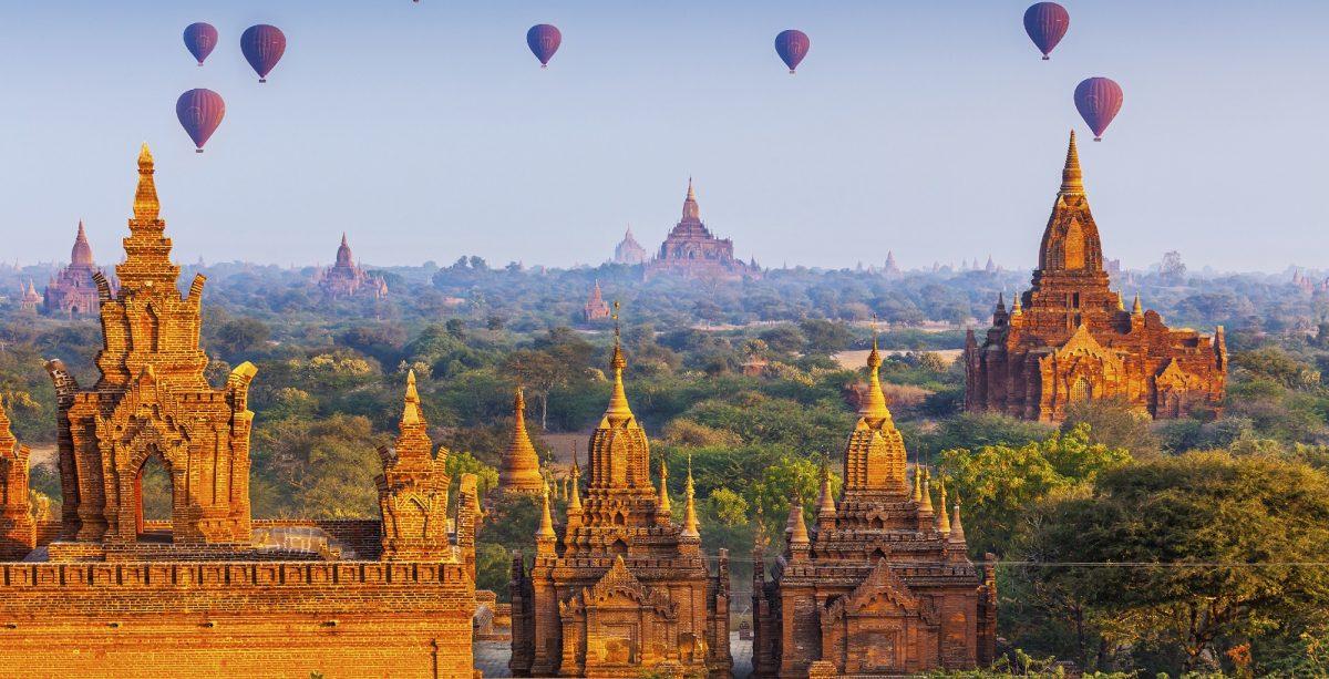 Templos en Bagan, Myanmar
