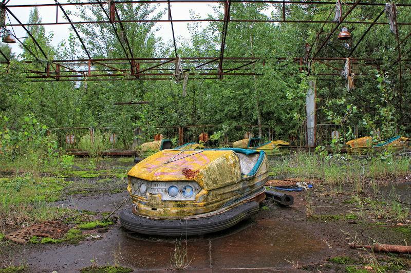 Parque de atracciones cerca de Chernobil