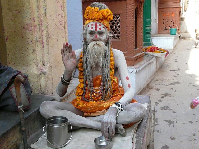 Sadhu en la India